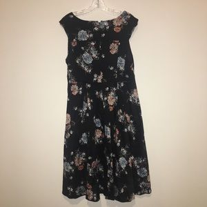 Torrid LBD fall floral A Line sleeveless size 10